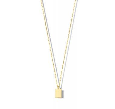 Collier met rechthoekige hanger