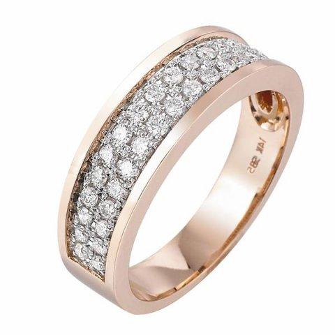 Pas Diamonds rose gouden ring