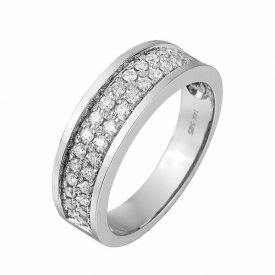 Pas Diamonds wit gouden ring