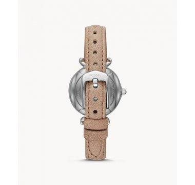 Carlie Mini Three-Hand Sand Leather Watch