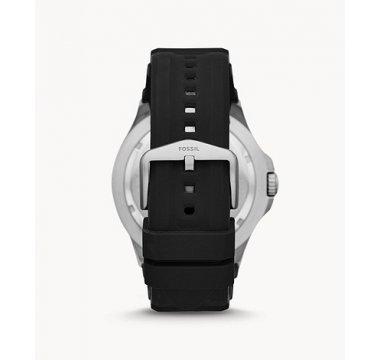 FB-02 Three-Hand Date Black Silicone Watch