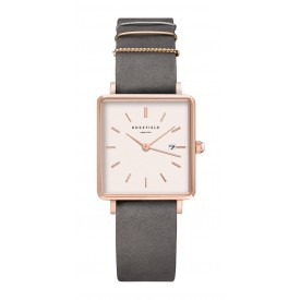 The Boxy Elephant Grey - Rose Gold