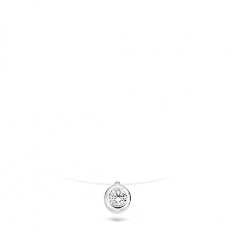 Blush Ketting - Wit Goud (14Krt.) Met Zirconia