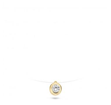 Blush Ketting - Geel Goud (14Krt.) Met Zirconia