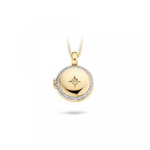 Blush Ketting - Geelgouden medaillon (14 krt.)