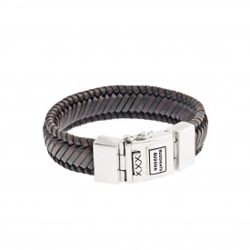 Edwin Leather Mix Black & Brown armband