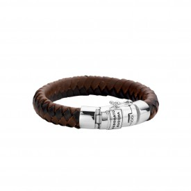 Ben Leather Black & Brown armband