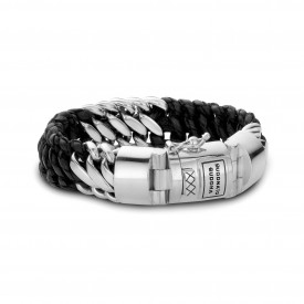 Ben Mix Silver Leather armband