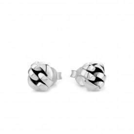 Chain Earstuds Silver oorbellen