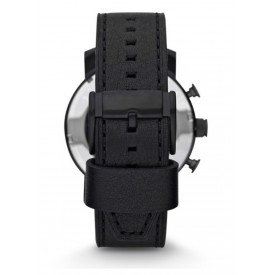 NATE CHRONOGRAPH BLACK LEATHER WATCH