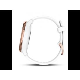 vívomove® HR Roségoud met witte siliconen band