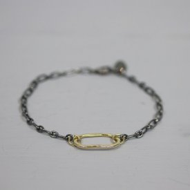 Armband zilver oxy + Goldfilled