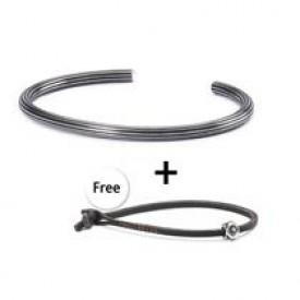 Star Bangle & Leather bracelet Shield - Large TSM2018L